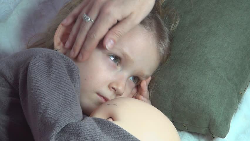 Sleeping Child, Sleeping Little Girl Sucking Thumb, Habits -2458
