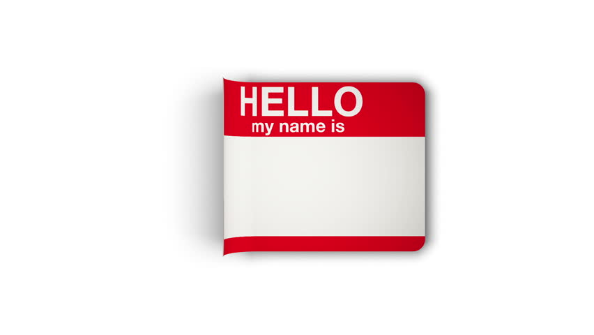 Stock video of hello my name is sticker being 3555227 shutterstock