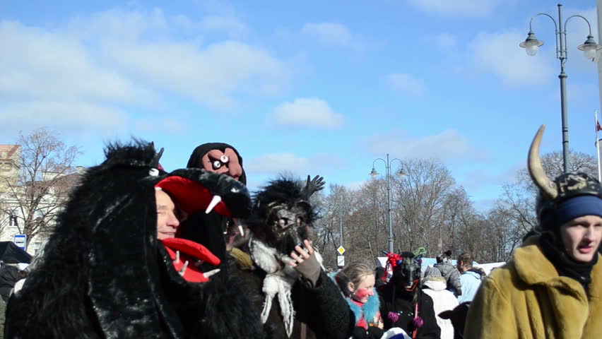 Spring Parade Participants Carries Witch Stock Footage Video (100%  Royalty-free) 3566777   Shutterstock