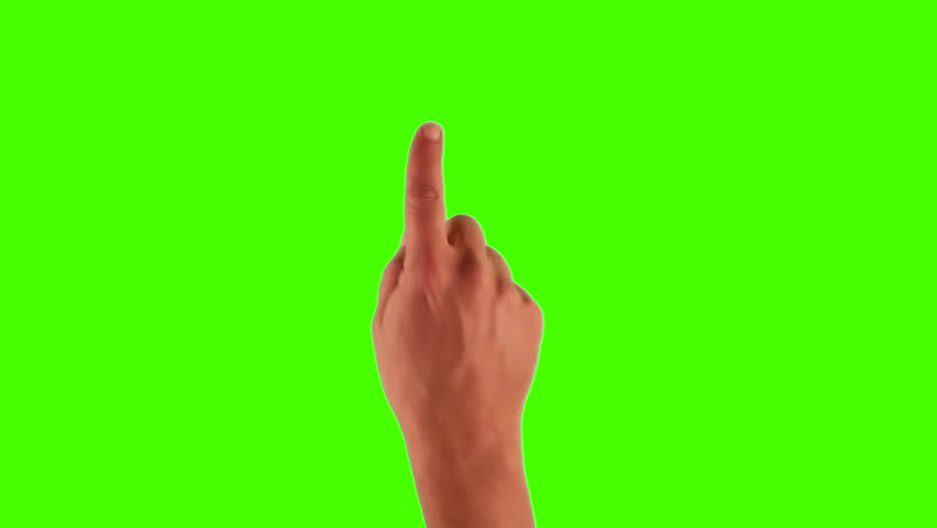 Set of hand gestures, showing the uses of computer touchscreen, tablet, trackpad or ipad. Full HD with green screen. modern technology, 1080p, 1920x1080 #3570497