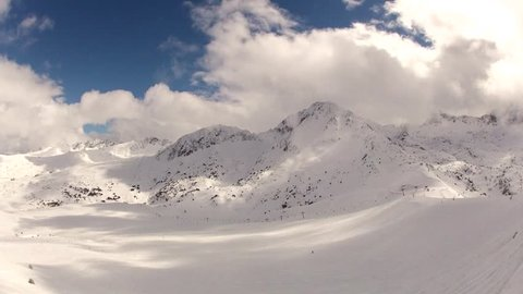Snowy Mountains and Clouds Timelapse