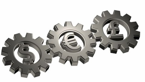 dependency - rotating cogwheels endless loop