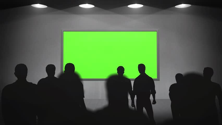 gallery walls green screen frame