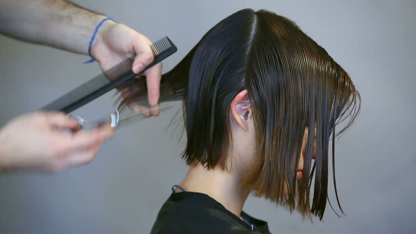 Hair dresser and haircut and hair do | Shutterstock HD Video #3601577