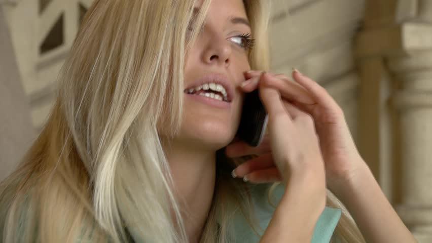 Talks on phone Sexy