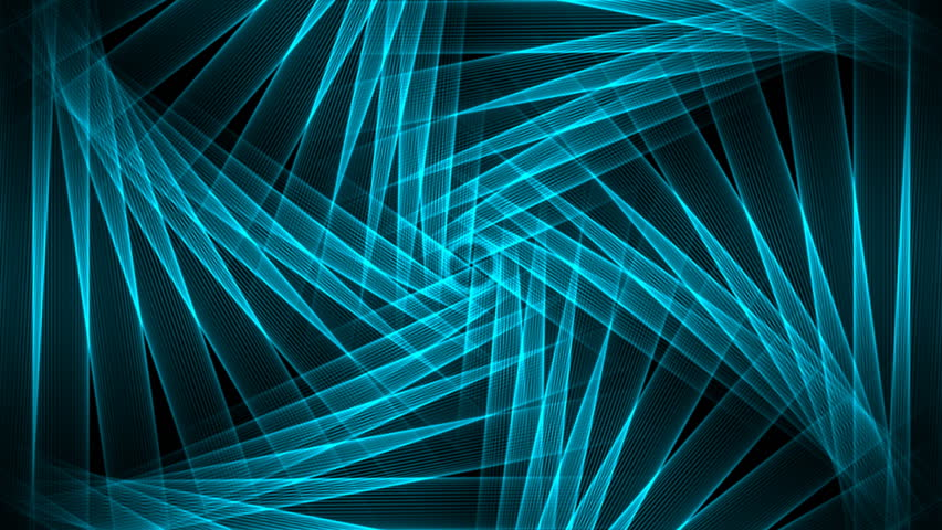 Blue Geometry - Fractal 02 (HD) - Motion background with blue lines in geometrical pattern. Alpha matte included. Seamless loop.