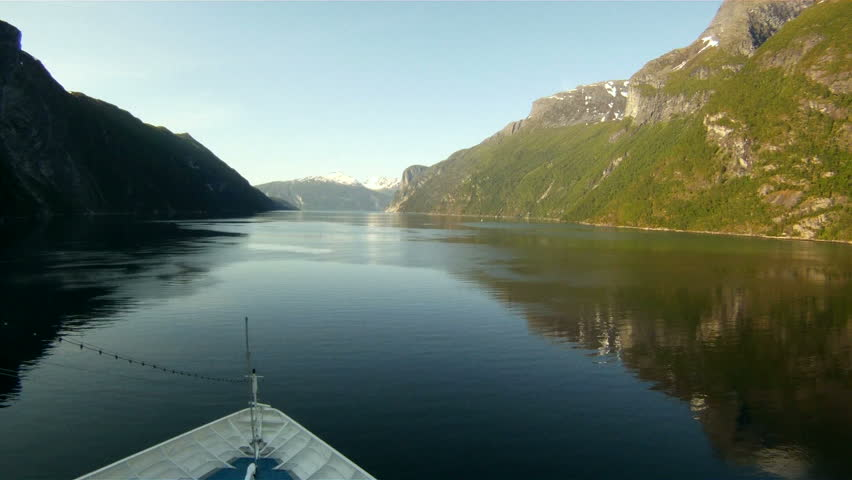 Cruising in Norway Fjord - North Europe Travel Destination