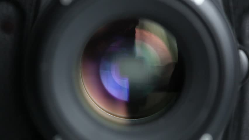 Camera taking a photograph