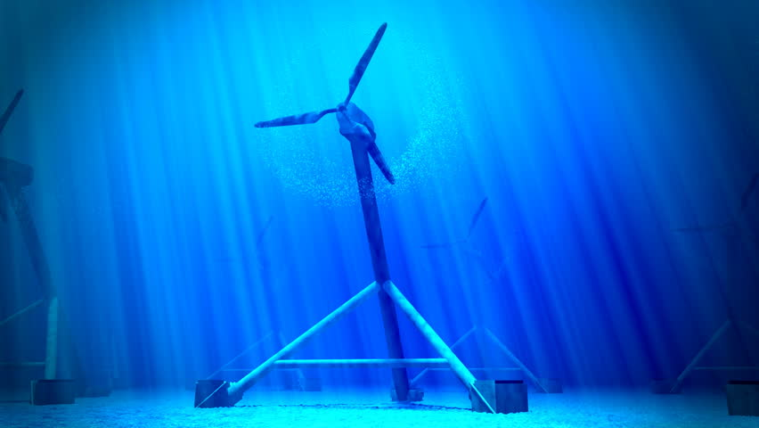 Tidal stream energy (tidal energy or tidal power) is energy contained in naturally occurring tidal currents which can be extracted and converted into electricity. | Shutterstock HD Video #3633227