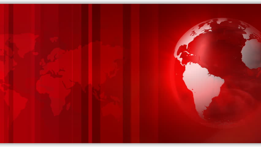 Animated Globe Rotating, Red And White News Intro Stock ...