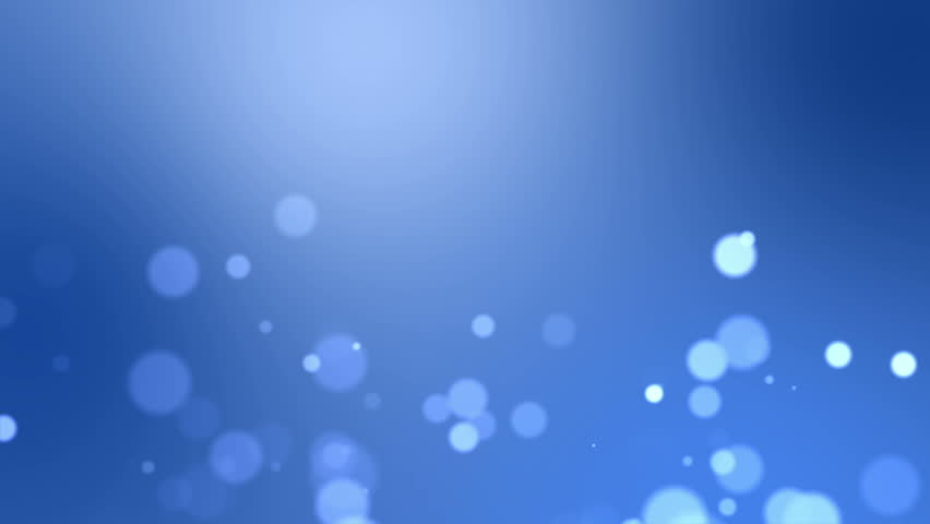 Bokeh seamless blue background loop with space for text.