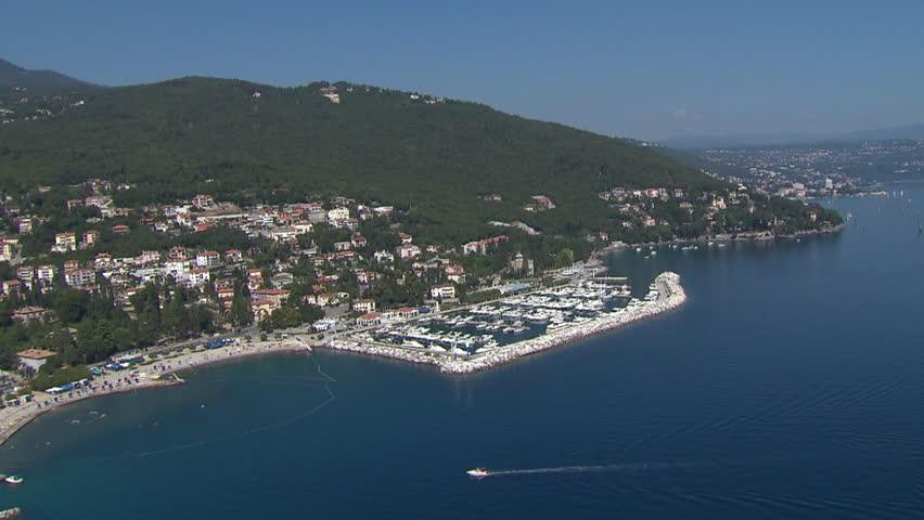 ACI marina Opatija, Adriatic coast. Aerial helicopter shot.   Shutterstock HD Video #3657287