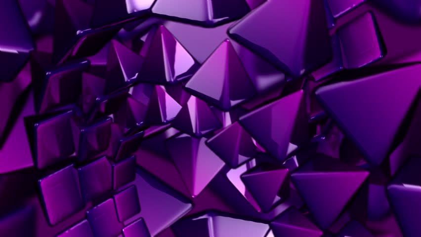 Abstract CGI Motion Graphics And Animated Background With Purples