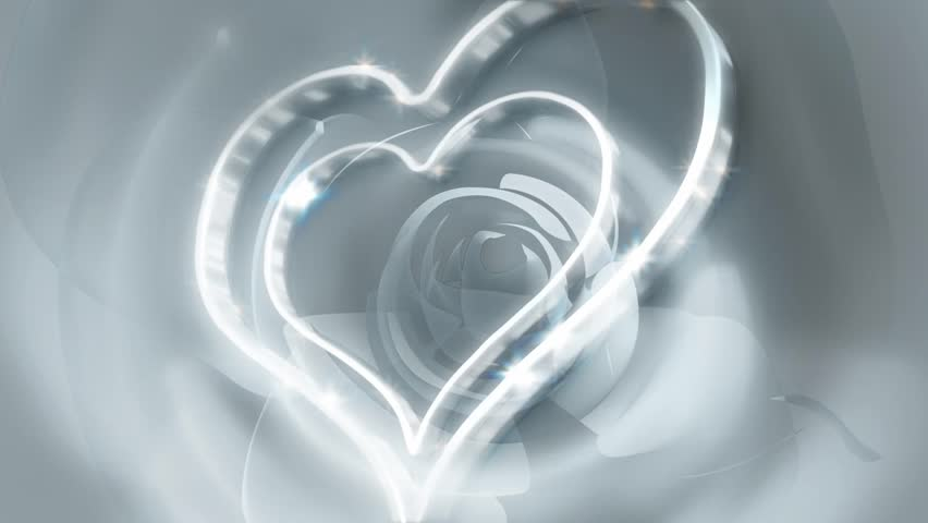 Silver Hearts Abstract Background | Shutterstock HD Video #3672611