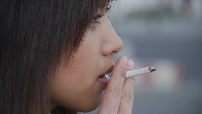 Stock Video Of Hd1080 Young Sexy Asian Woman Smoking -5218
