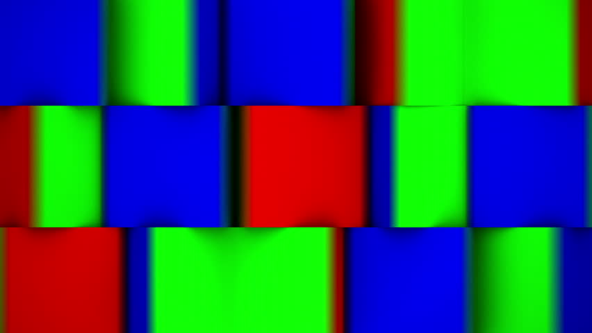 Rotating 3D cubes. Used for transitions between different images or videos using red green or blue channels as alpha.