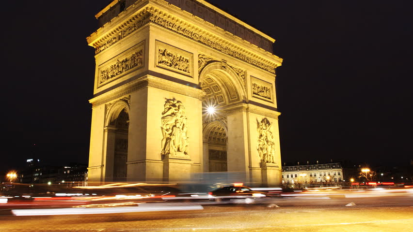 Triumph Arch, Paris. Time lapse video in Paris Charles De Gaulle square. | Shutterstock HD Video #3699902