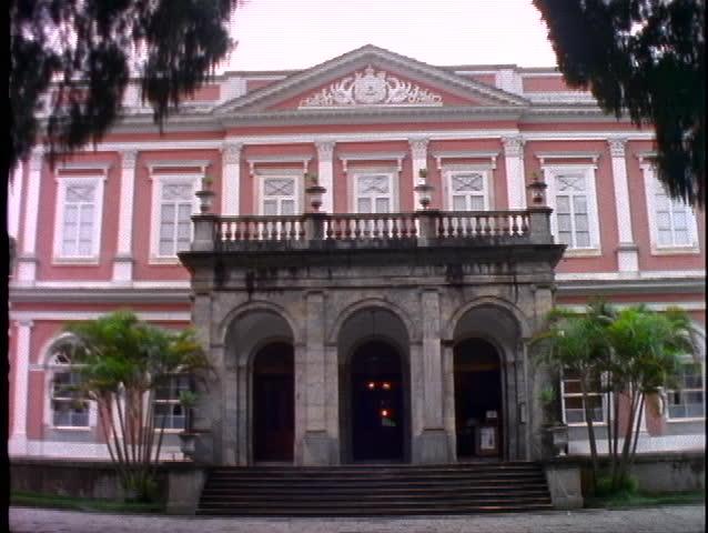 BRAZIL, 1998, Petropolis, Don Pedro Palace, front