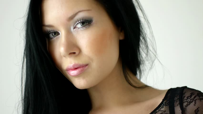 HD1080i Face in close up of young woman. | Shutterstock HD Video #3707717