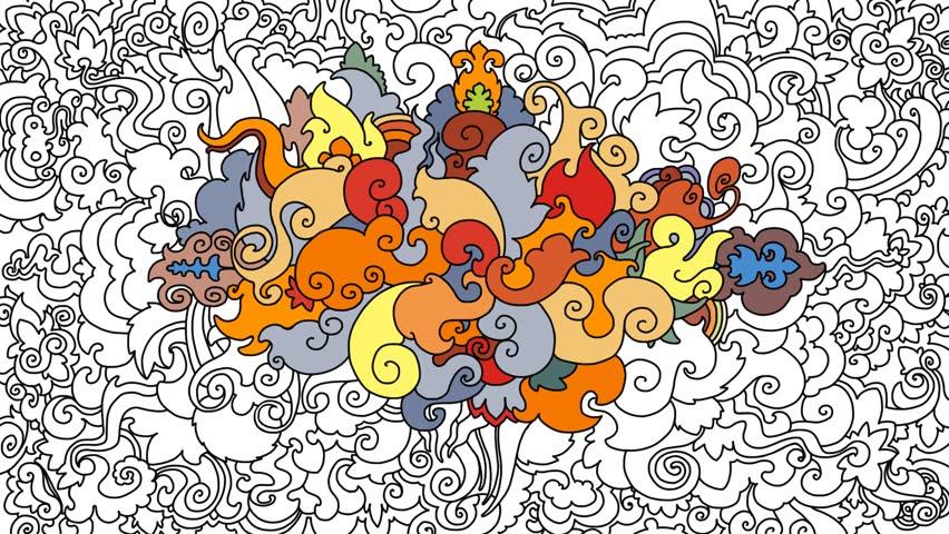 Animated decorative graphic cartoon floral background. Enjoy!
