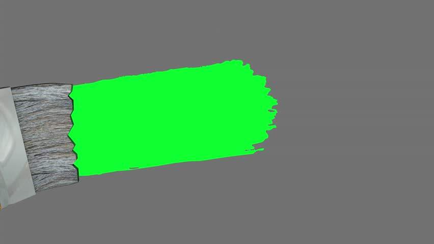 Green screen paint brush animation.