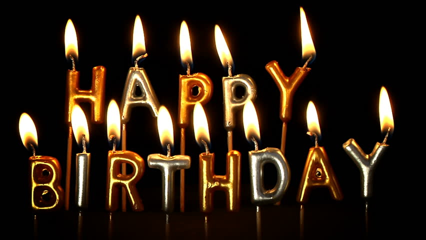 Happy Birthday Candles Stock Footage Video 100 Royalty Free