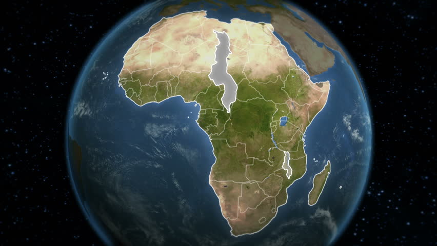 Loopable spinning Earth with African country maps. Each country border freeze a few seconds to let you edit and change the order or duration. Elements of this video furnished by NASA.