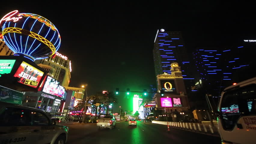 Las Vegas strip driving shot at night | Shutterstock HD Video #3791048