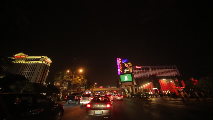 Las Vegas strip driving shot at night | Shutterstock HD Video #3797780