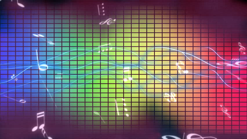 Animated Music Background (loop) Stock Footage Video