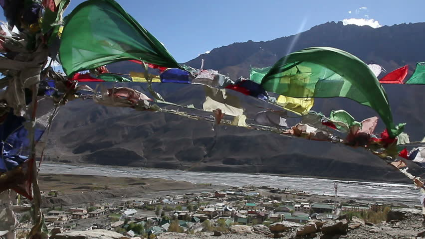 Tibetan flags against the sky 3