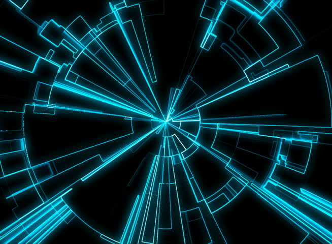 Abstract Tron Grid Loop Stock Footage Video 3893633