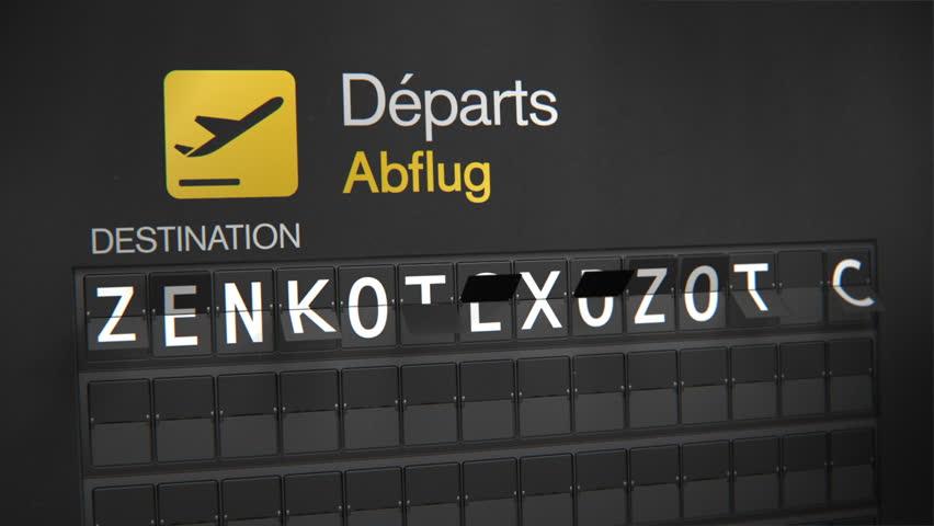 Departures Flip Sign: European cities - Frankfurt | Shutterstock HD Video #3896483