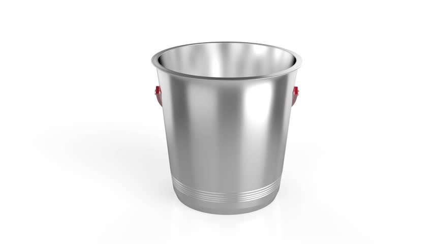 Empty ice bucket on white background