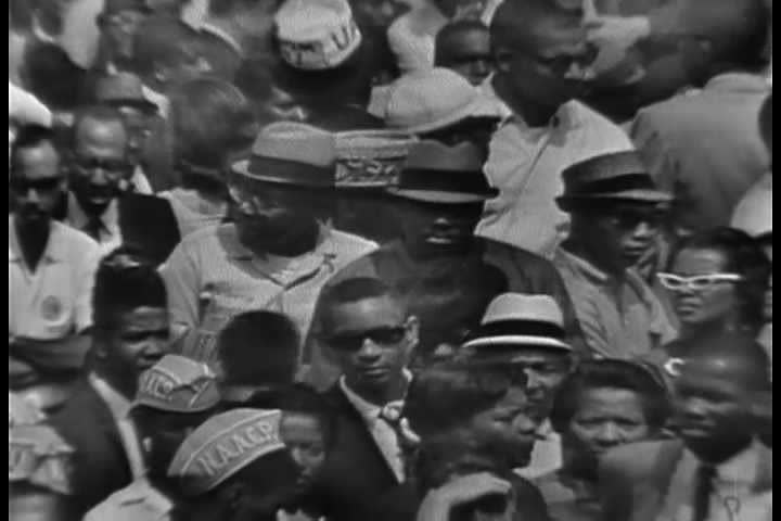 1960s - The 1963 March on Washington civil rights rally. Burt Lancaster speaks.