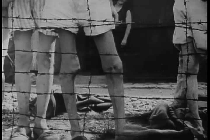 1940s - Footage of Arnstadt Buchenwald Nazi Concentration Camp victims.