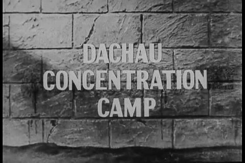 1940s - Footage of Dachau Nazi Concentration Camp victims.