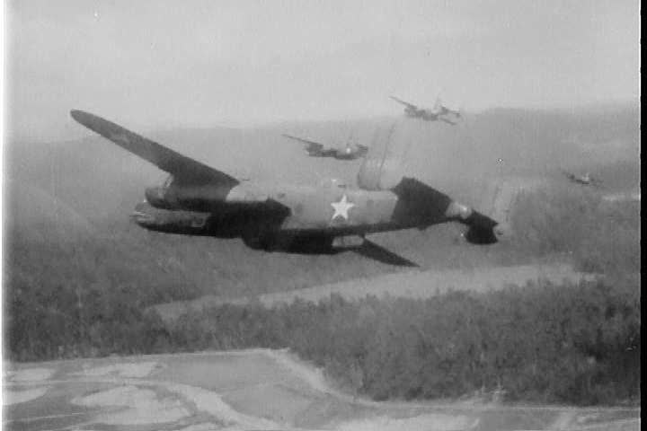 1940s - The Air Force's role in fighting in New Guinea is explained.