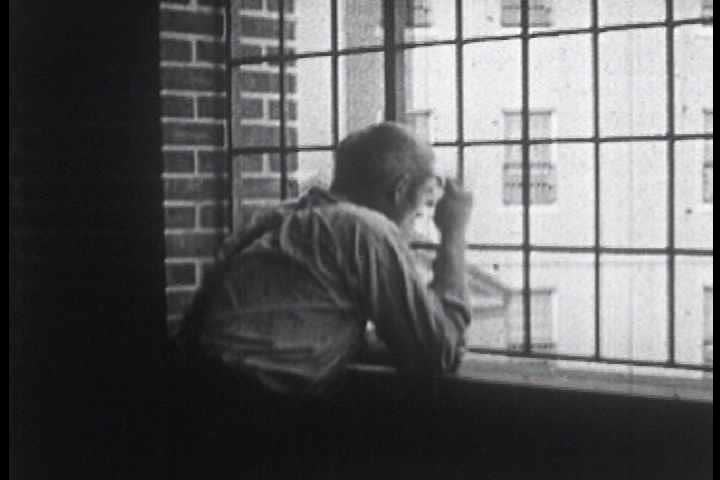1940s - Silent footage from a lunatic asylum in the 1940s with patients displaying various forms of psychological disorders, particularly catatonic states.