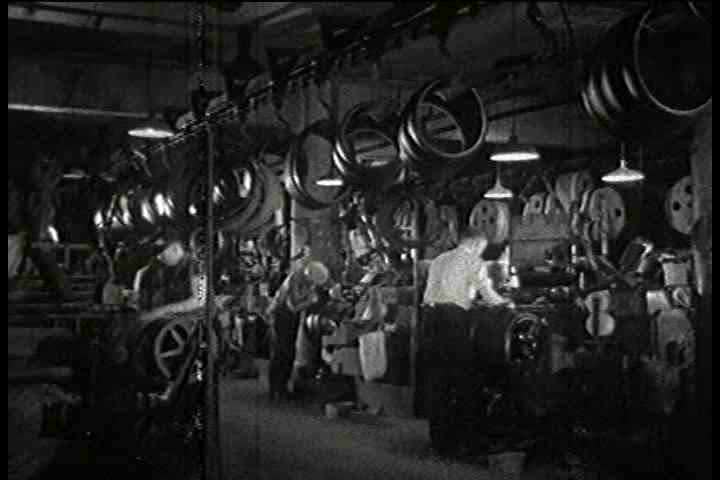 1930s - Inside a tire factory in 1935.