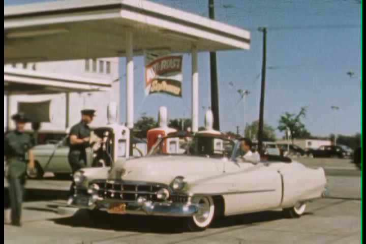 1950s - Service stations and gas stations are profiled as a modern convenience for the 1950s driver.