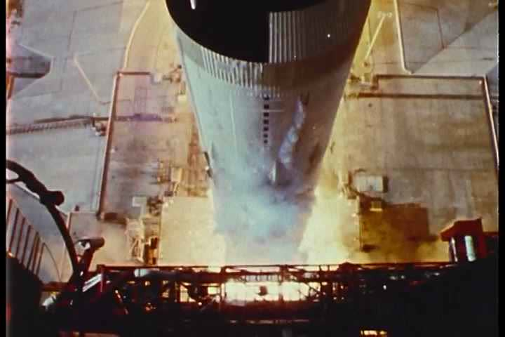 1960s - Apollo 11 lifts off from the launchpad. | Shutterstock HD Video #3936710