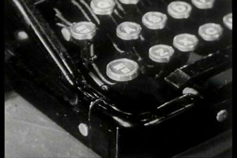 1940s - Lenore Benton demonstrates how to use the backspace, the tab key, bar tabulators and to hit he carriage retune lever properly