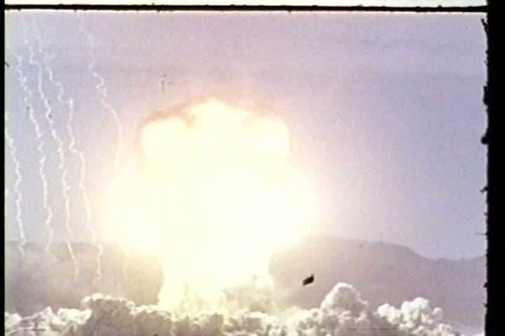 1950s - Nuclear blast during Operation Knothole in 1953.