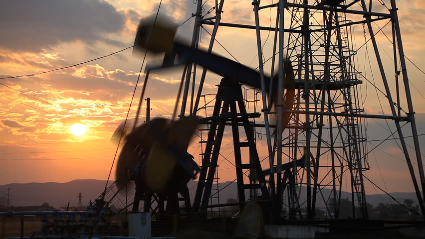 Sunset, Sunrise, Fossil Fuel Energy, Oil Pump, Pumpjack, Old Pumping, time lapse