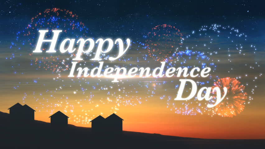 Happy Independence Day Title Animated Stock Footage Video 100