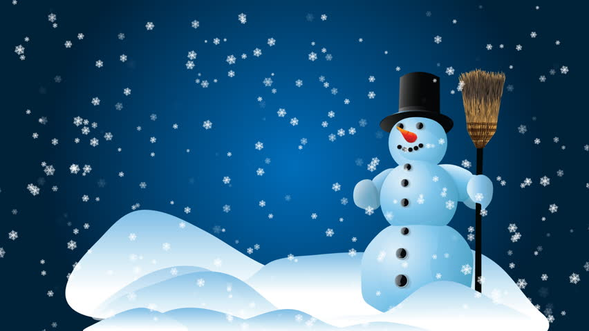Video Stock De Snow Man With A Blue 100 Livre De Direitos 399847 Shutterstock