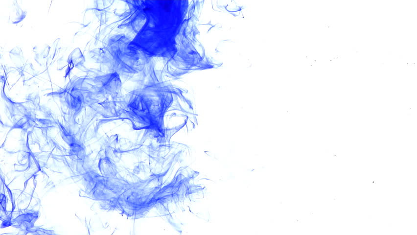 Traces of blue ink drifting through water. Makes for an interesting conceptual background.