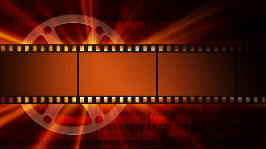 Film Reel Background With Shine Stock Footage Video 100