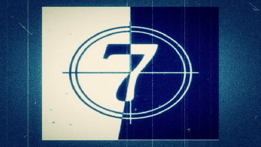 HD - Motion 882: Retro film leader countdown.
